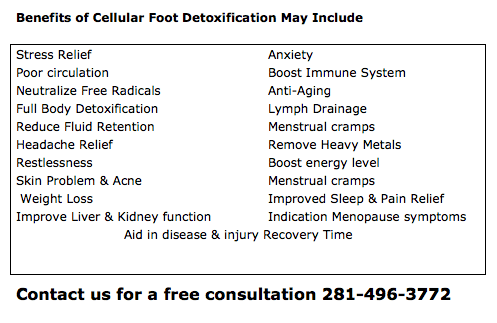 Benefits of Cellular Foot Detox